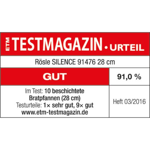 "RÖSLE Tigaie Profesionala pentru Clatite, Neaderenta, din Otel Inoxidabil 18/10 ""Silence"" 28cm, Inductie"