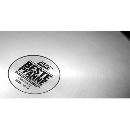 SET PROMO : Craticioara pentru Lapte, Sosuri, Gris cu Lapte, Neaderenta, 9mm grosime, AMT Gastroguss (prod. Germania),16cm + Capac din sticla termorezistenta  cu dispozitiv de reglare a fluxului de aer(BALLARINI) , 16 cm