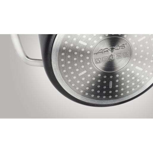 """Cratita antiaderenta FARA PFOA, 10 ANI GARANTIE, 1 maner, inclusiv INDUCTIE, ARCOS """"Durapro"""", 16cm"""