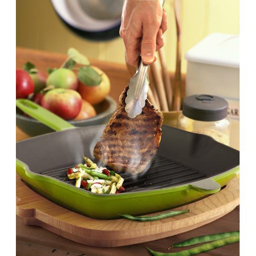 SET Promotional SILVER: Grill de Fonta 26x26cm + Cratita de Fonta cu Capac 26cm + Tigaie de Fonta 24cm, Rosu