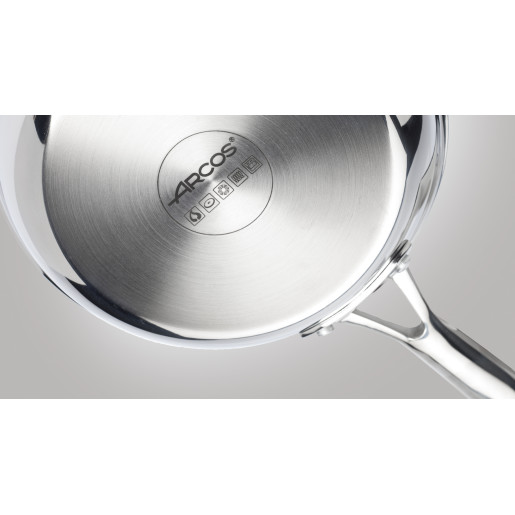 "Cratita joasa Inox 10 ANI GARANTIE, Capac sticla termorezistenta, inclusiv INDUCTIE, ARCOS ""FORZA"", 28cm"