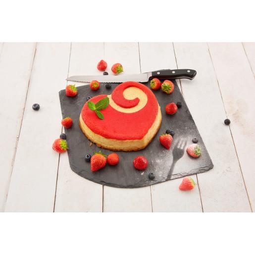 "LURCH FLEXI-FORM: Tava de Copt din Silicon ""Platinum"" pt Tort, Tarta cu fructe, forma inima, 22 cm x 20 cm x 6 cm, reteta inclusa"