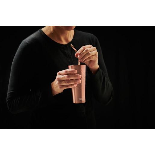 Pahar termo-izolant pt  băuturi calde sau reci,  LURCH (Germania), oțel inoxidabil, roz, 0.4l