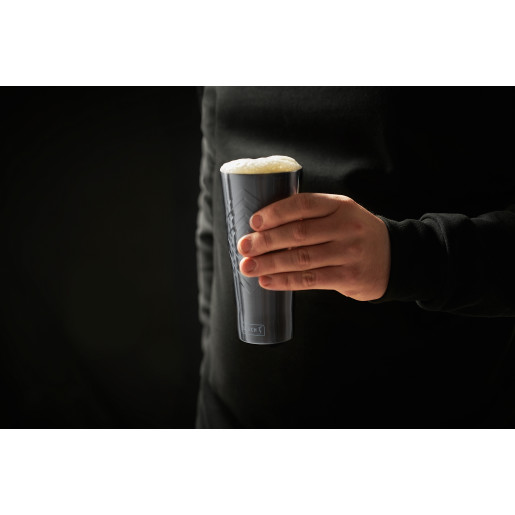 Pahar termo-izolant pt  băuturi calde sau reci,  LURCH (Germania), oțel inoxidabil, gri, 0.4l