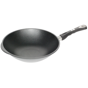 WOK neaderent, 9mm grosime, AMT Gastroguss (prod. Germania) 28cm, inaltime 11cm, 2.2litri