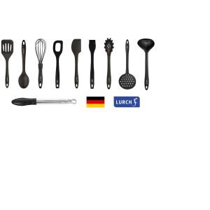 Set LURCH (Germania) din Platinum-Silicon 9+1 cu CADOU Cleste cu Mecanism Blocare 24cm, pentru vase neaderente