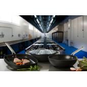 "Tigaie PROFESIONALA antiaderenta FARA PFOA, inclusiv INDUCTIE, ARCOS ""Samoa"", aluminiu forjat + Otel Inox, 6 straturi, 28cm"