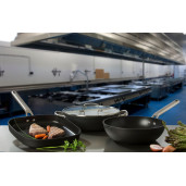 "Tigaie PROFESIONALA antiaderenta FARA PFOA, inclusiv INDUCTIE, ARCOS ""Samoa"", aluminiu forjat + Otel Inox, 6 straturi, 32cm"