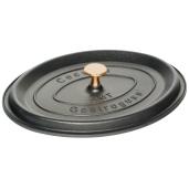"""CAPAC pentru Cratita Neaderenta """"La Cocotte"""", 9mm grosime, AMT Gastroguss (prod. Germania), Oval, 32x25x12cm"""