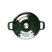 "Promotie ""LA CUISINE"" Vase de Fonta emailata : Set Oala 26cm + Oala 24cm Verde (Hunting Green), Garantie pe viata"