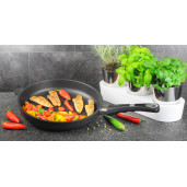 WOK Inductie, neaderent, 9mm grosime, AMT Gastroguss (prod. Germania) 28cm, inaltime 11cm, 2.2litri
