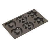 "LURCH FLEXI-FORM: FORMA DE COPT din Silicon ""Platinum"" pentru TURTA DULCE si CORNULETE, 30x17cm"