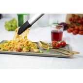 Cleste Tango  Gratar /Servire ALL IN ONE, LURCH (Germania), din Platinum-Silicon + Otel Inoxidabil, Mecanism blocare, 240 mm